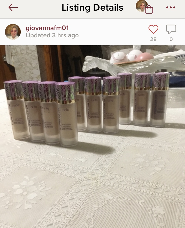 fake tarte facetape foundation