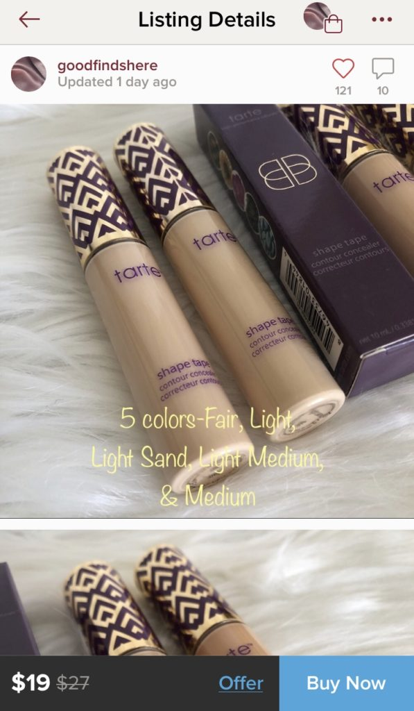 Real tarte shapetape on Poshmark