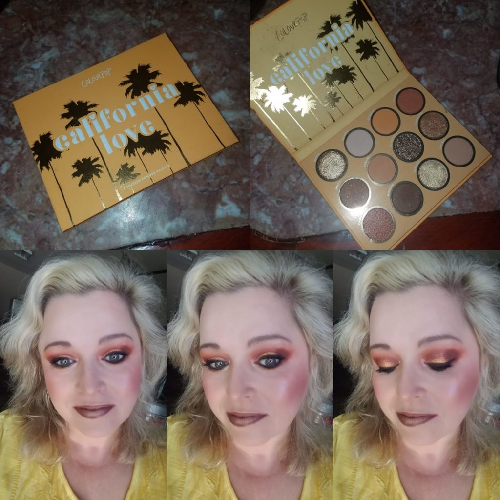 Colourpop California Love palette looks